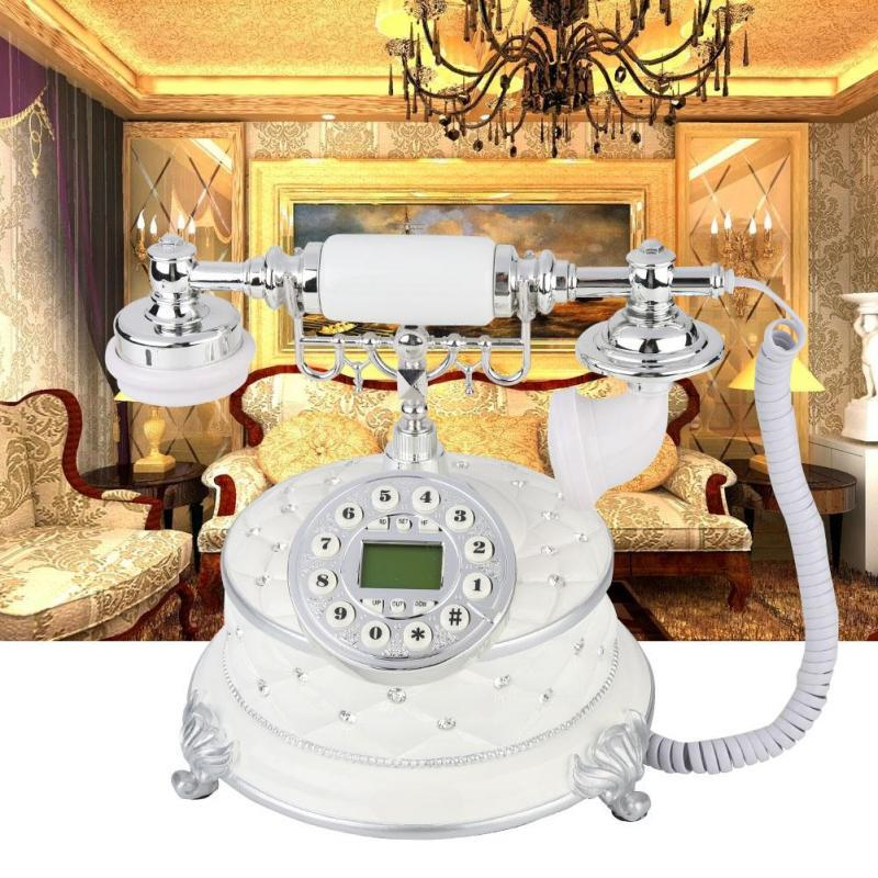 for Office//Home//Hotel Rotary Dial Antique Telephones Classic Decoration Retro Vintage Telephone Landline Phone FSK//DTMF Dual System