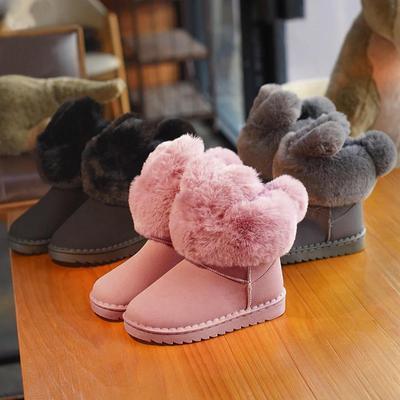 1ec1cfdc1 Niños niñas nieve invierno cálido exterior antideslizante peluche botas  Casual zapatos