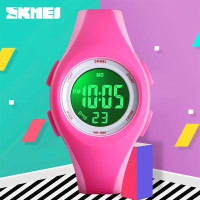 LCD Electronic Digital Sport Watches Stop Luminous 5Bar Waterproof Wristwatches For Boys Girls