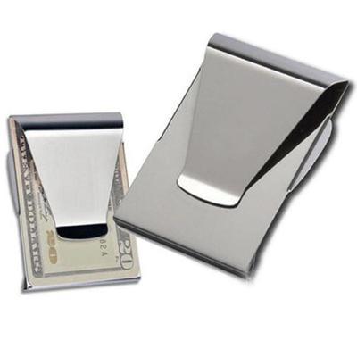 New Stainless Steel Pocket Metal Slim Cash Money Clip Credit Card Holder Wallet