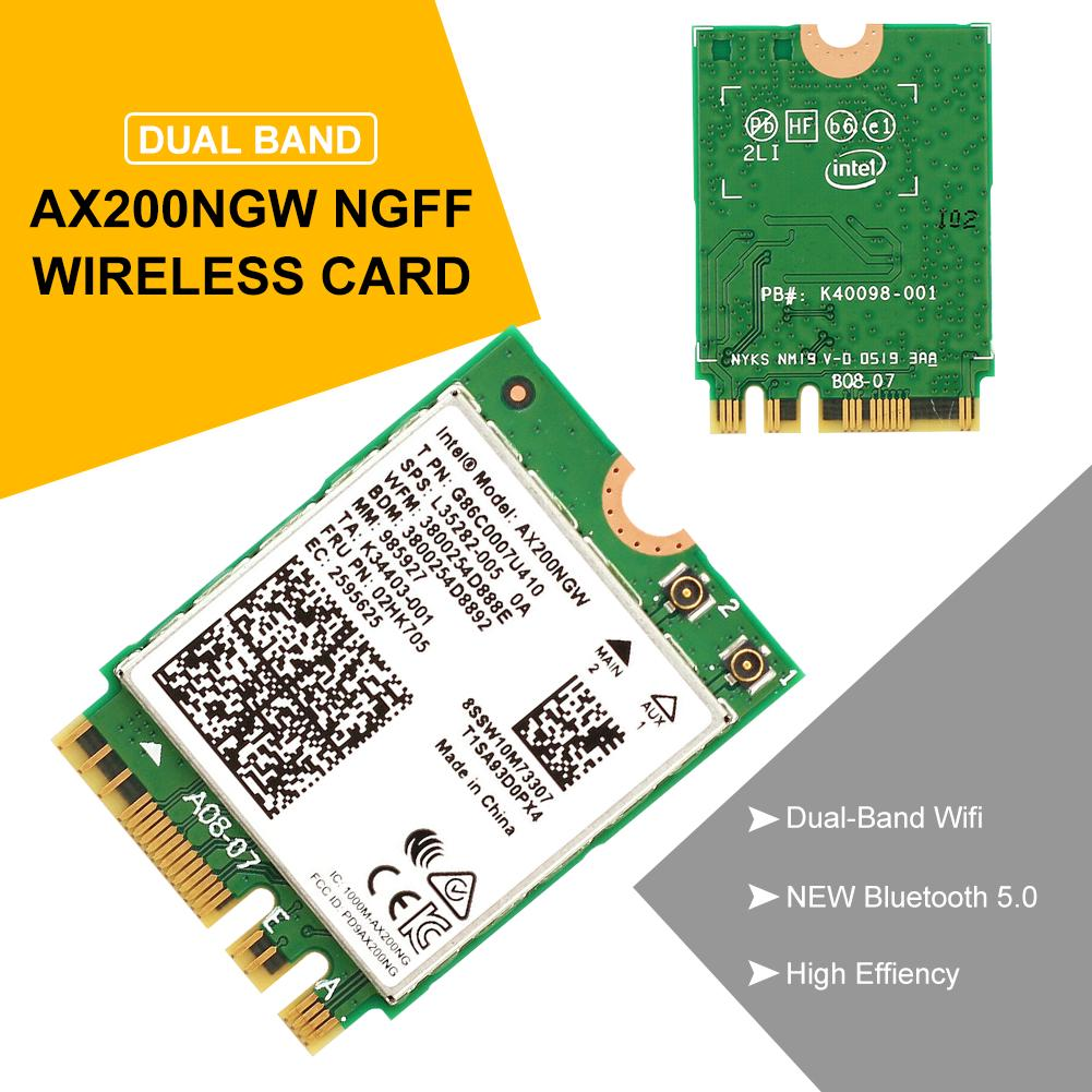 WIFI6 2.4 Scheda di Rete Wireless per Intel AX200NGW 5GHZ Dual Band Bluetooth 5.0 Scheda di Rete per Samsung//dell//Sony//Acer