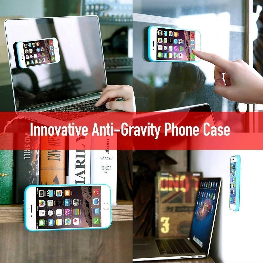 Protective Tpu And Pc Cases Anti Gravity Nanometer Adsorb Cover For 2in1 Case Full Tempered Glass Iphone 6 Plus 1 Of 13