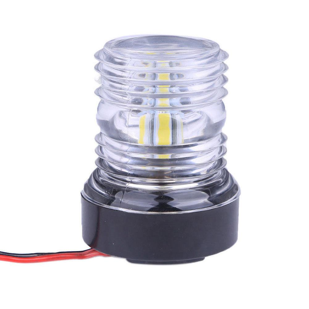 "Marine Boat Pontoon 7.5/"" All-Round Anchor Navigation Light White LED SS Pole"