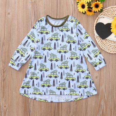 Toddler Infant Baby Kids Girls Cartoon Dresses Striped Animals Outfits Clothes 2019 Chlidren Dress