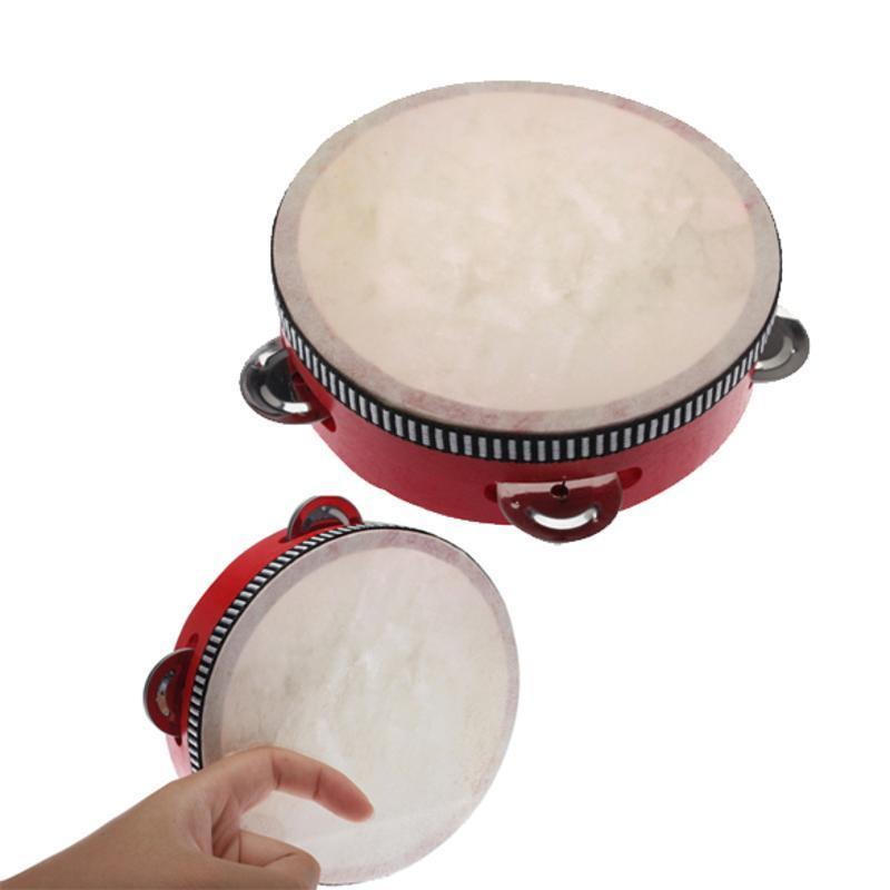 Tamburin Handtrommel Orff Percussion Spielzeug für Kinder Geschenk 8 Zoll