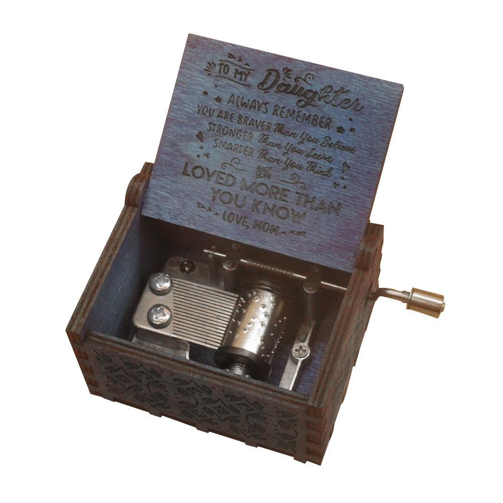 Гравированная ручная рукоятка музыкальная ретро деревянная коробка ремесла детская музыкальная игрушка подарок на день рождения – купить по низким ценам в интернет-магазине Joom