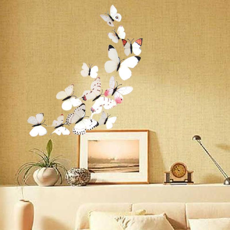 12PCS 3D PVC Magnet Butterflies Y Wall Sticker Home Decor-buy at a ...