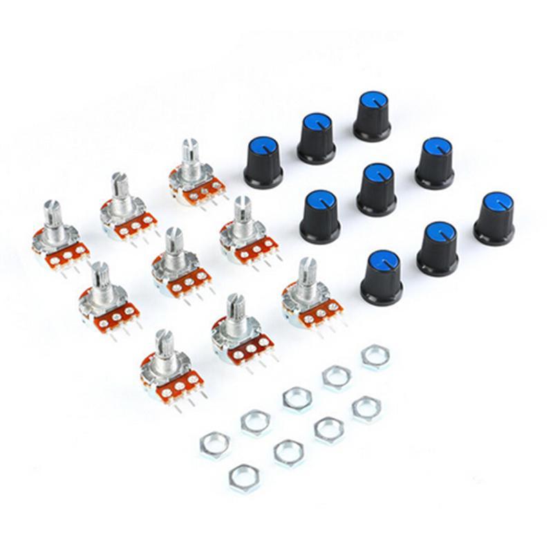 perfk WH148 Linear Potentiometer Hat Knob Resistance 1K 2K 5K 10K 20K 50K 100K 500K 1M ohm