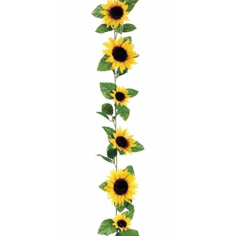 2.6M DIY Artificial Yellow Sunflower Silk Garland Vine Wedding Party DIY Decor