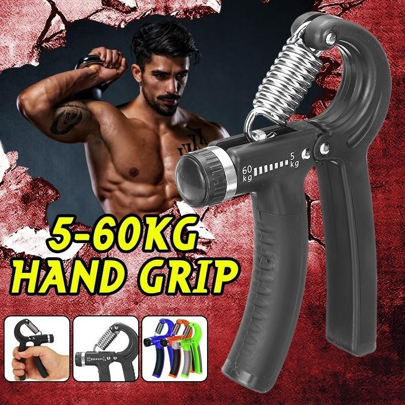 Adjustable Hand Power Grip Exerciser Strengthener Wrist Forearm Trainer 5-60kg