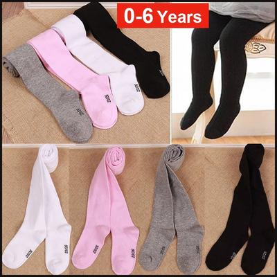 Toddler Baby Knitted Cotton Warm Pantyhose Solid  Kids Girls Soft Tights Hosiery Socks Pantyhose