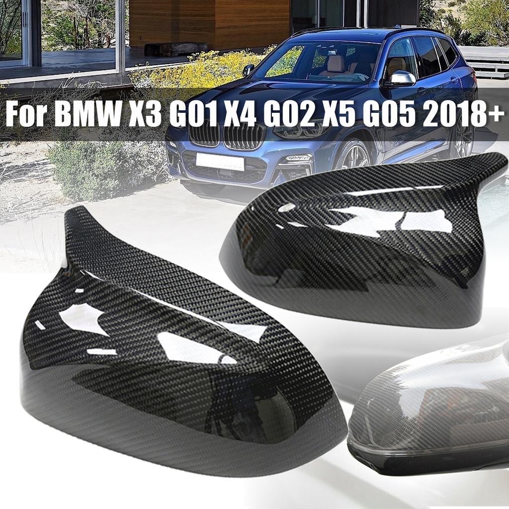 Car Rearview Side Mirror Cover Cap Refit for BMW X5 M Sport 10-13 Carbon Fiber