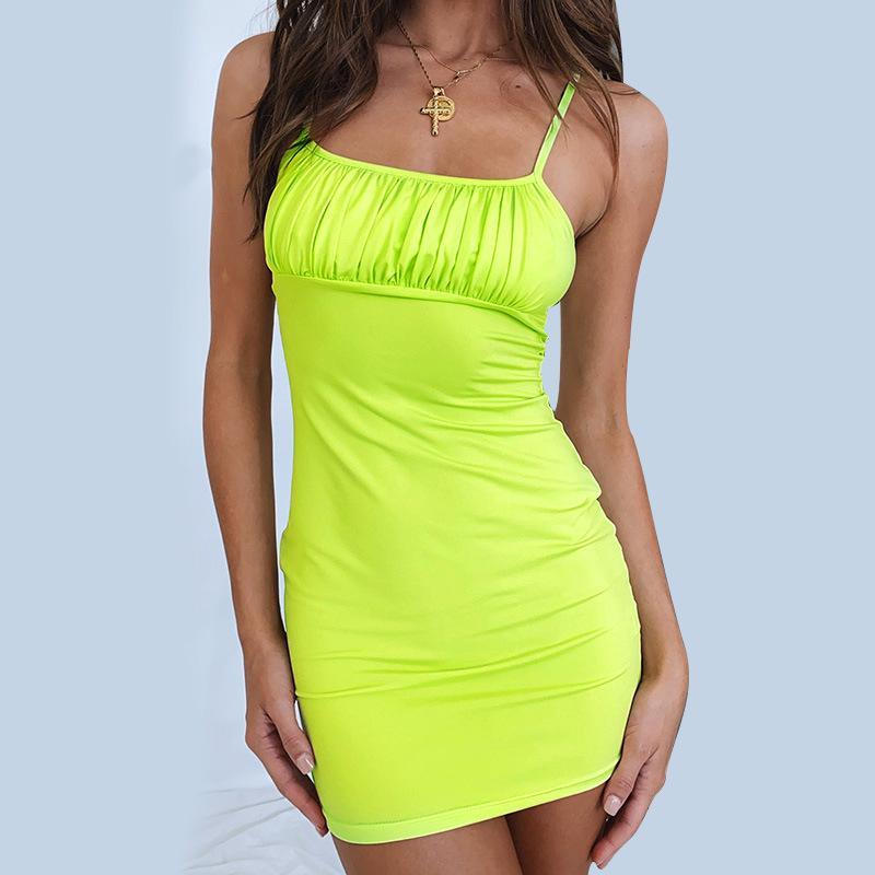 Sleeveless Pleated Vest Dress Sleeveless Dress Cotton Dress Women's Fashion KS