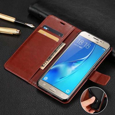 Fashion PU Leather Flip Case Soft TPU Inside Book Wallet Capa Stand Magnetic Cover J1 J3 J5 J7 J4 J6