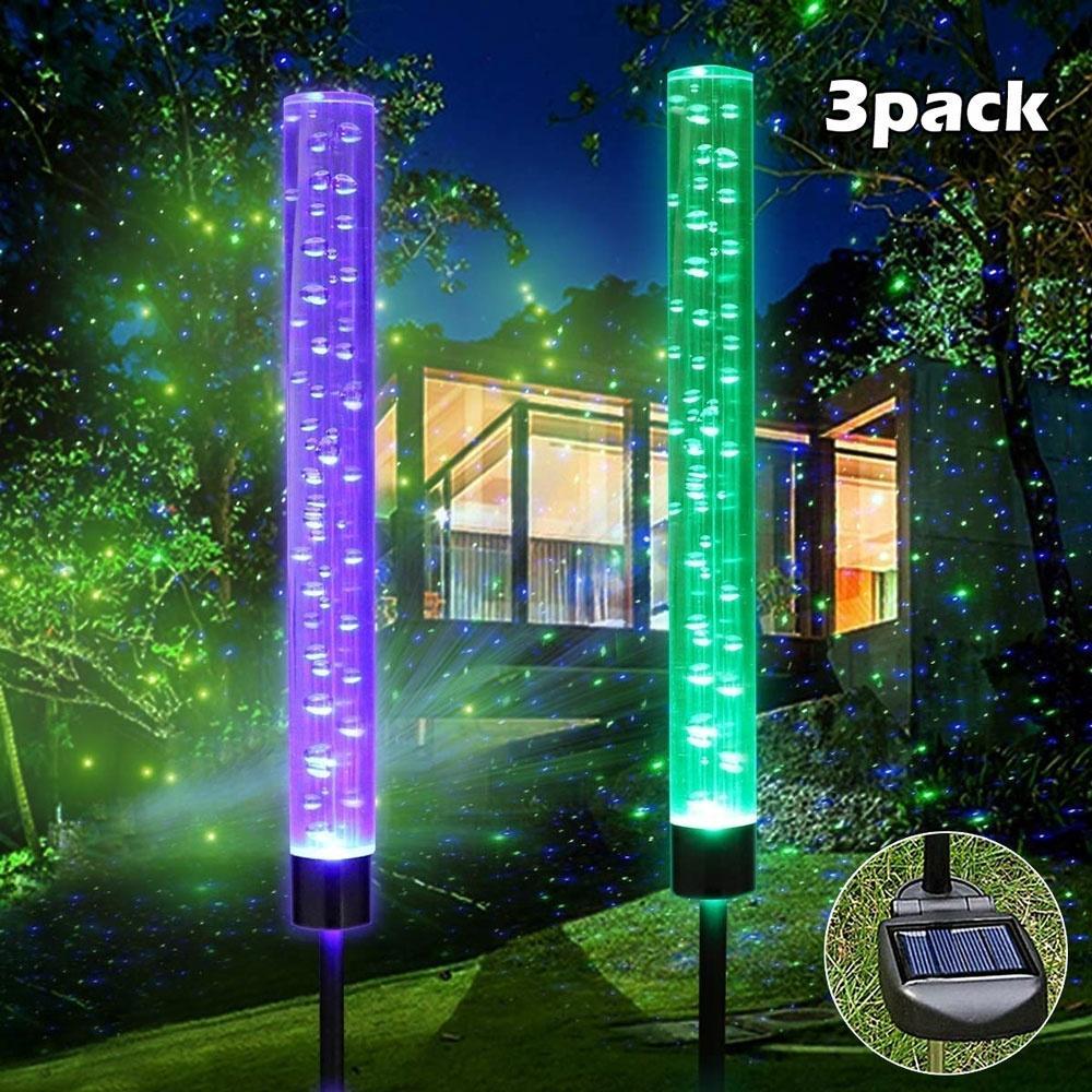 Details about  /1pcs Garden Solar Lights Outdoor Bubble Tube Solar Acrylic RGB LED Lights Decor