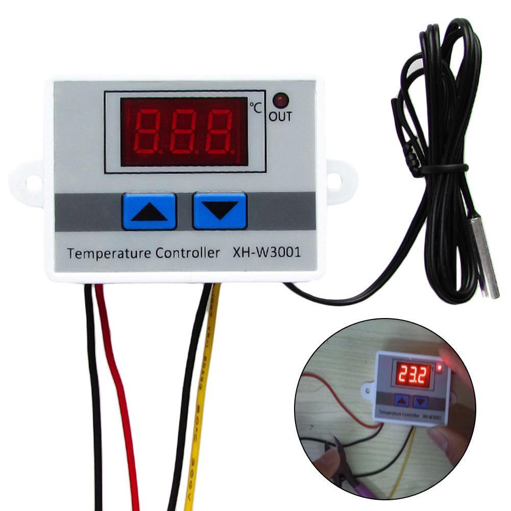 12V 24V 220VAC Цифровой светодиодный контроллер температуры XH-W3001 Для инкубатора