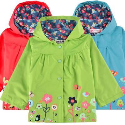 757c9b271682 Arshiner Cute Kids Girls Flower Hooded Long Sleeve Waterproof ...