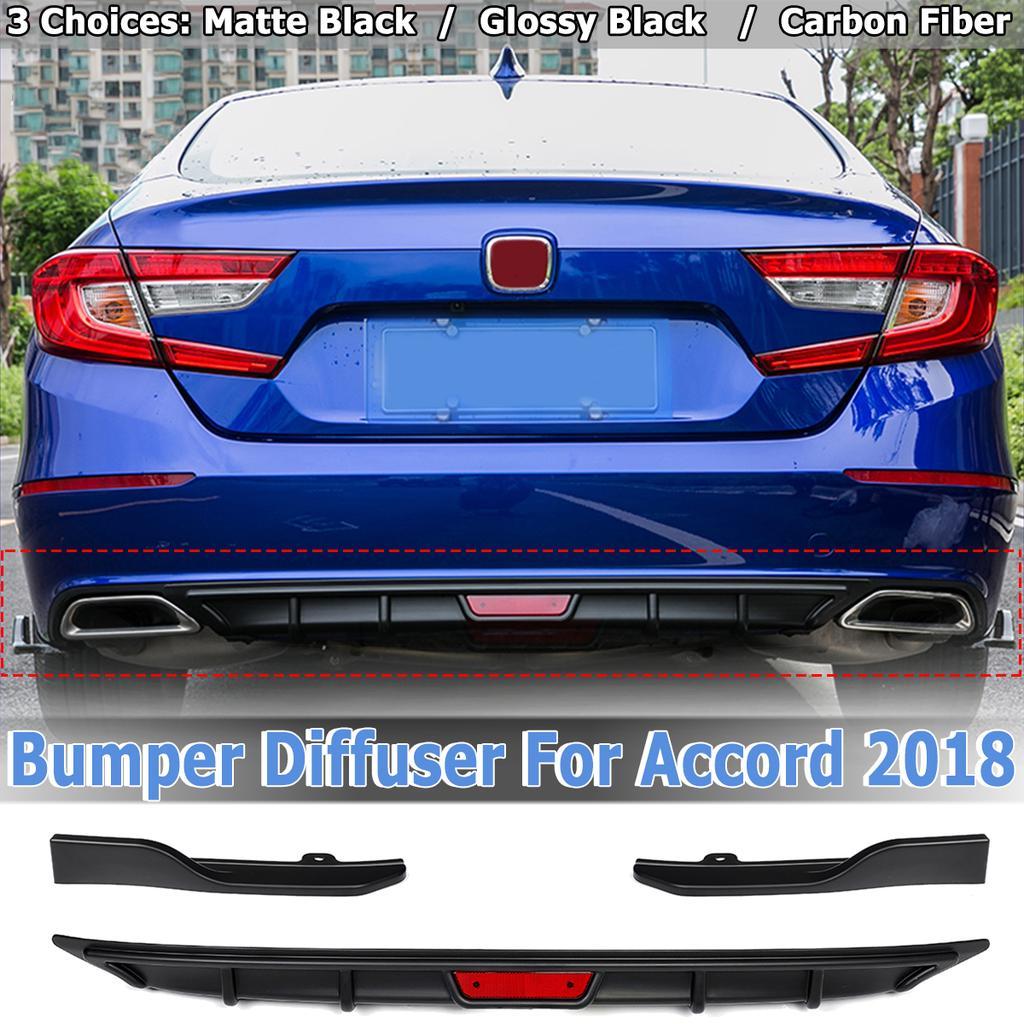 Skirt Wing Carbon Fiber For 2018 Honda Accord 10th Rear Bumper Diffuser