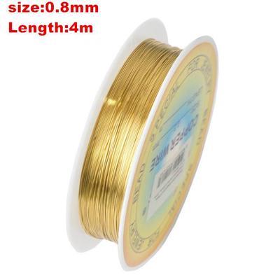 8M Laiton Cuivre Corde Câble Fil perles Collier Bracelet Bijoux Argent 0.5mm