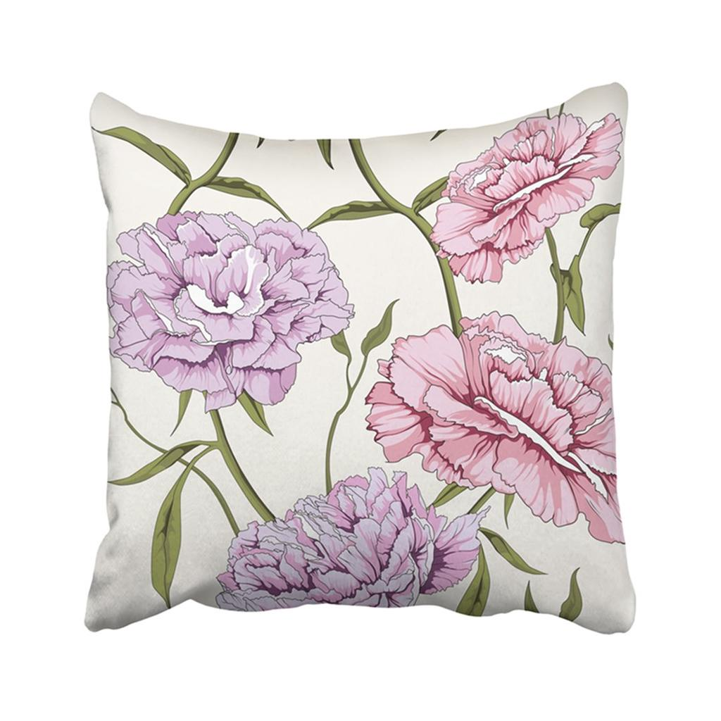 Blossoming Peony Flower Pink Classic Drawing Effortless Elegance Fragility Leaf Nature Pillowcase Pillow Cover 18x18inch 45x45cm Buy From 16 On Joom E Commerce Platform
