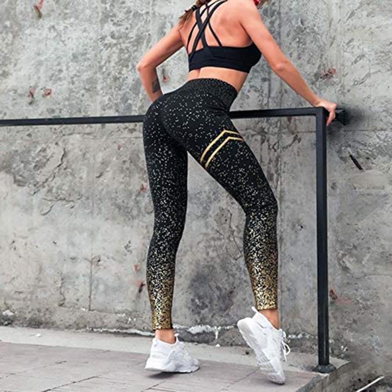 Тренажерный зал йога Брюки Спорт Носить для женщин Профессиональный Запуск Фитнес-Спорт Leggings Push Up колготки Печатные брюки – купить по низким ценам в интернет-магазине Joom