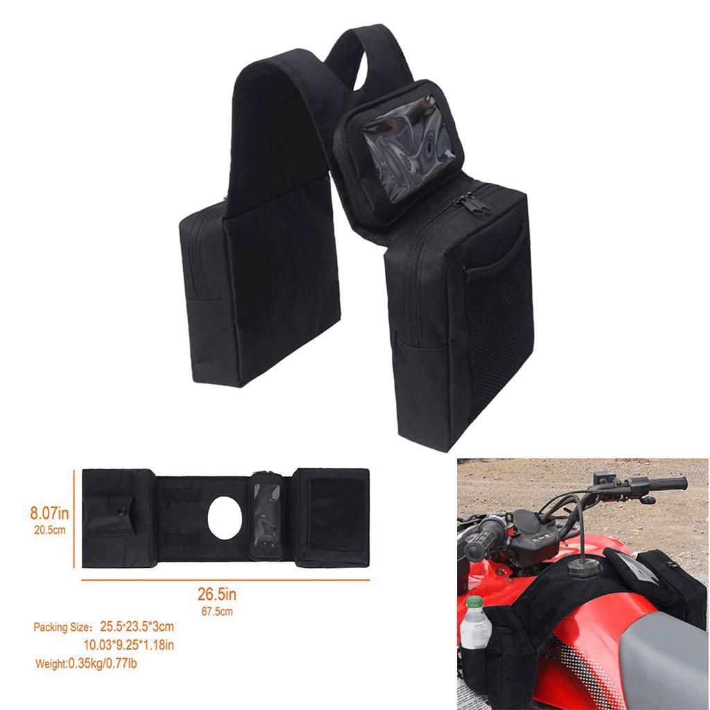 Universal ATV Quad Bike Motorcycle Fuel Tank SaddleBag Storage Bag Durable