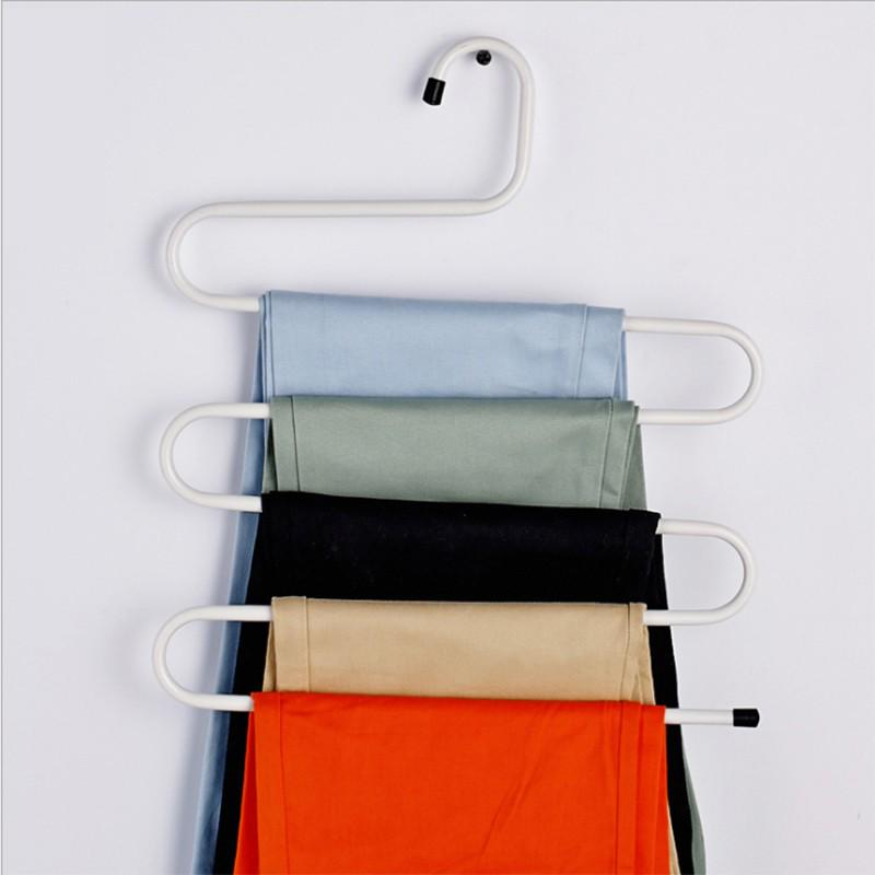 S-shaped Non-slip Multi-functional Multilayer Pants Rack Clothes Rack Portable
