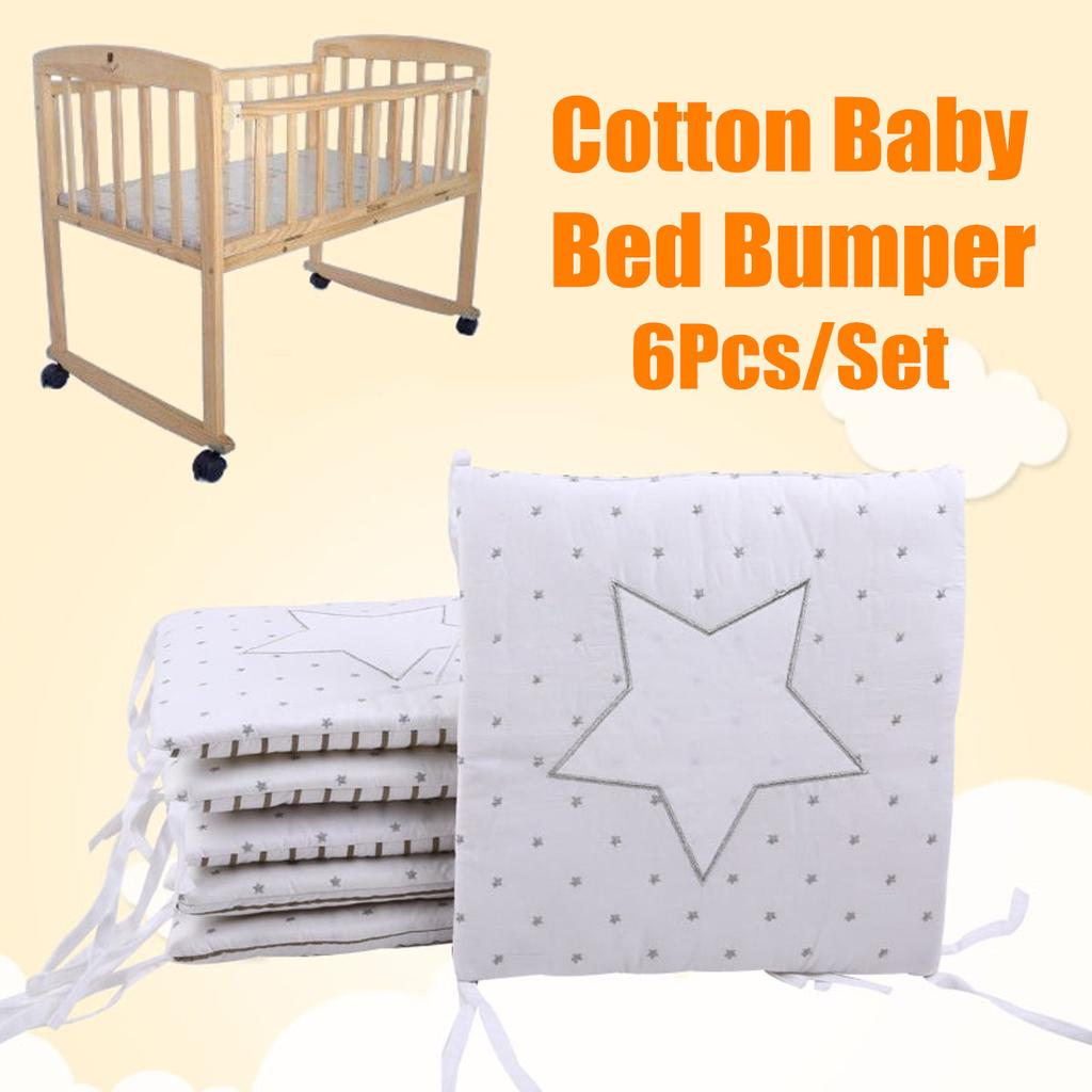 6pcs Set Cotton Baby Infant Cot Crib Bumper Toddler Nursery Bed Protector Pillow Buy At A Low Prices On Joom E Commerce Platform