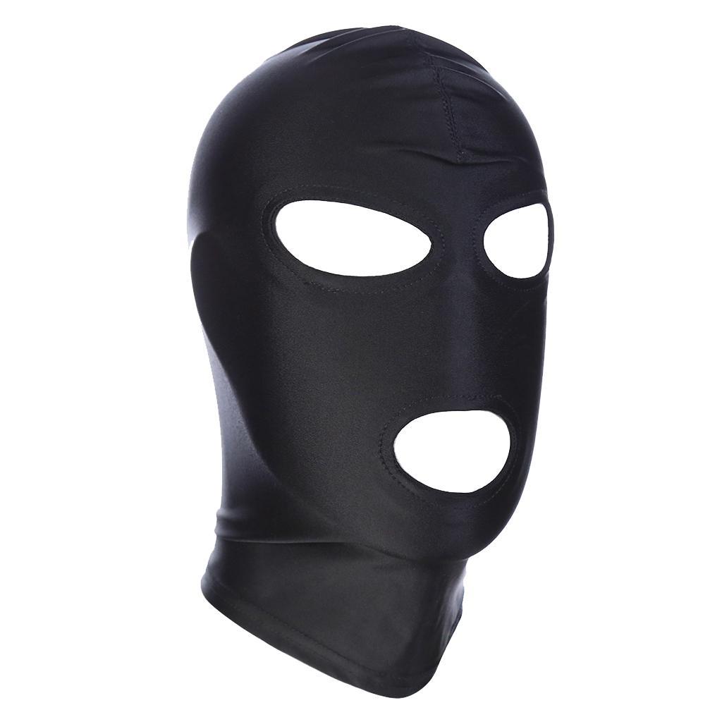 2Pcs Breathable Face Cover Spandex Zentai Costume Hood Mask Unisex Headgear