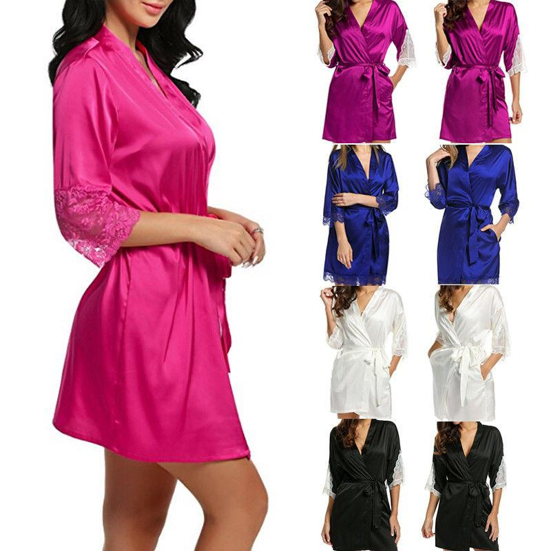 bdb145fc3b3 Women Sexy Lingerie Sleepwear Satin Silk Babydoll Lace Robes Sleep Dress  Skirt-buy at a low prices on Joom e-commerce platform