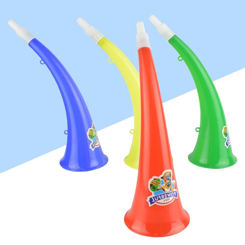 Set of 6 Plastic Vuvuzela Stadium Horn Noise Maker for Football Games A