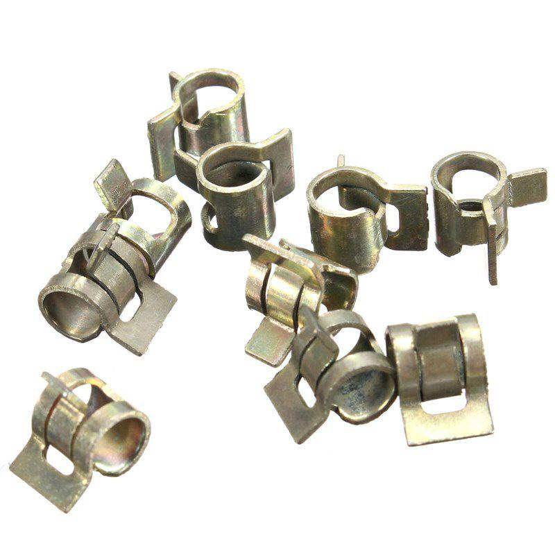 6 mm como en la imagen . 10 abrazaderas de tubo de silicona de 6 a 15 mm para manguera de vac/ío de combustible