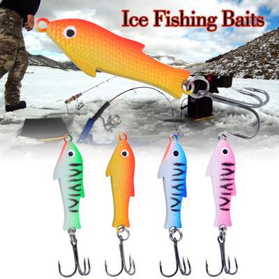 1x 18g 83mm Spoon Metal Lures Ice Fishing Lures Brand Hard Bait Fresh WaterFO
