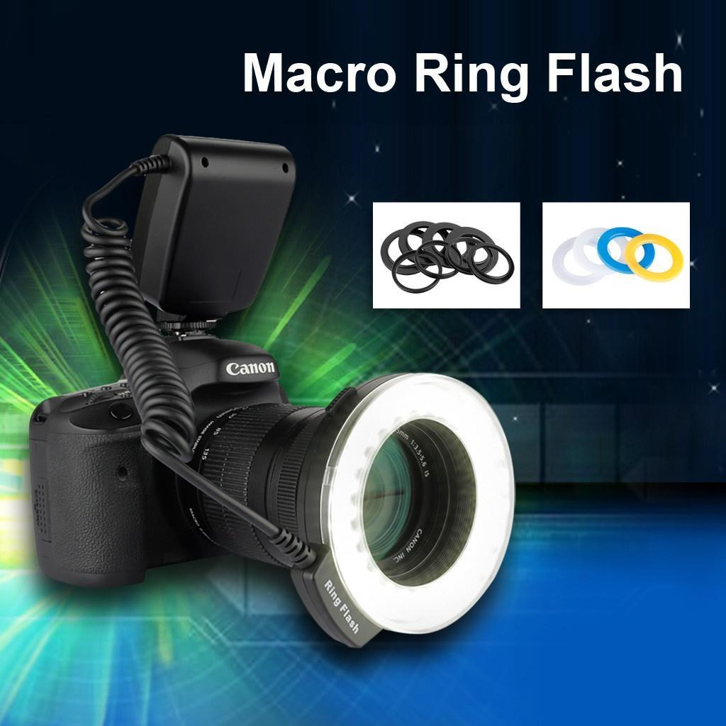 CN48 Luz del Flash del anillo del LED de Marco para cámara réflex ...
