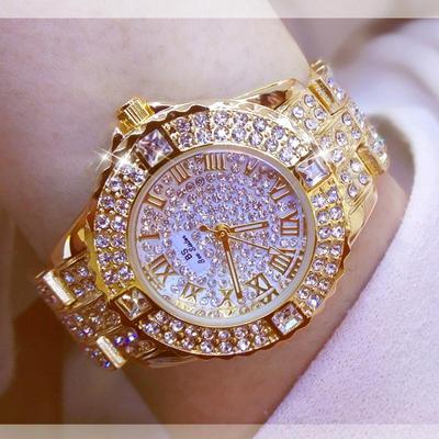 Women Watches Diamond Gold Watch Ladies Wrist Watches Luxury Brand Rhinestone Women's Bracelet Watches Female Relogio Feminino