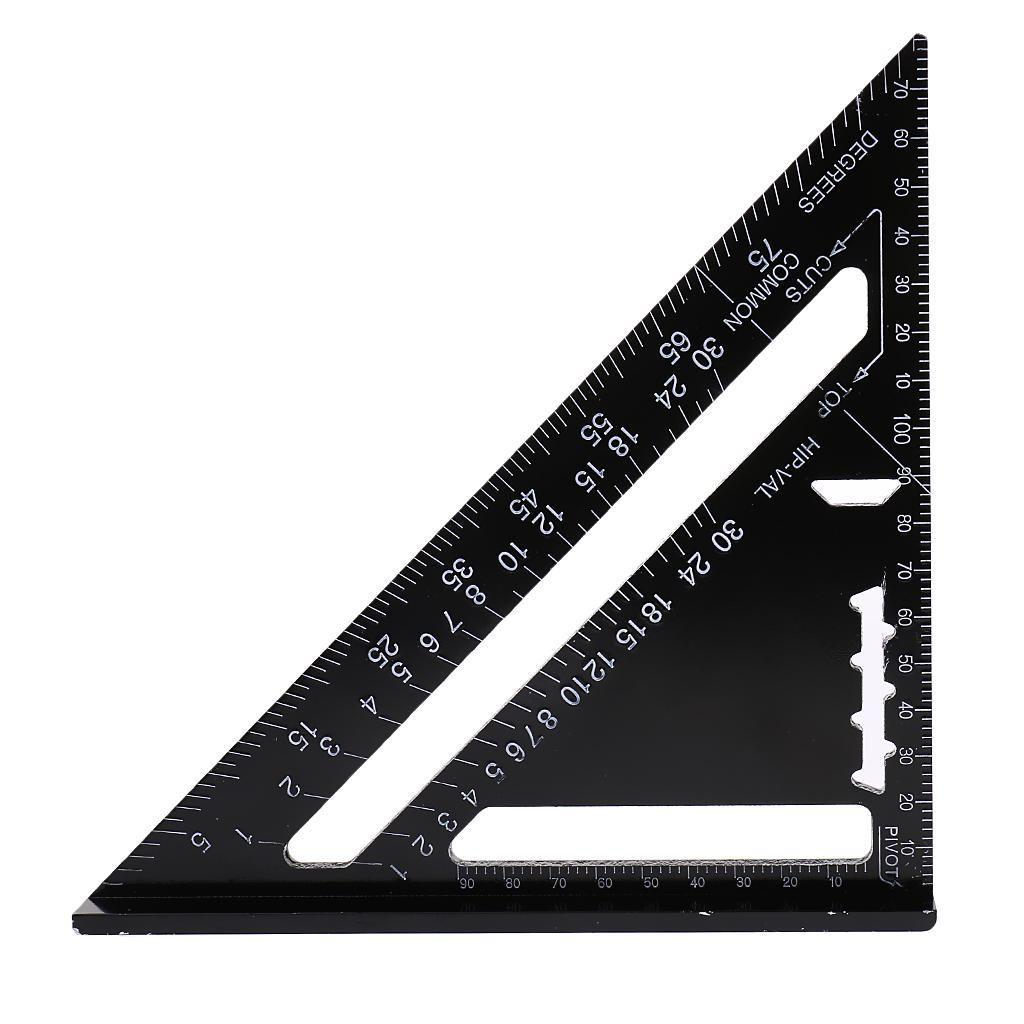 Aluminum Square Quick Roofing Rafter Triangle Measuring Guide Ruler Tool Hot