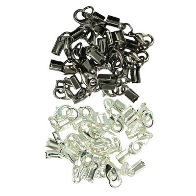 24Sets 3mm Necklace Extender Chain with Lobster Clasp Cord End Cap Connector