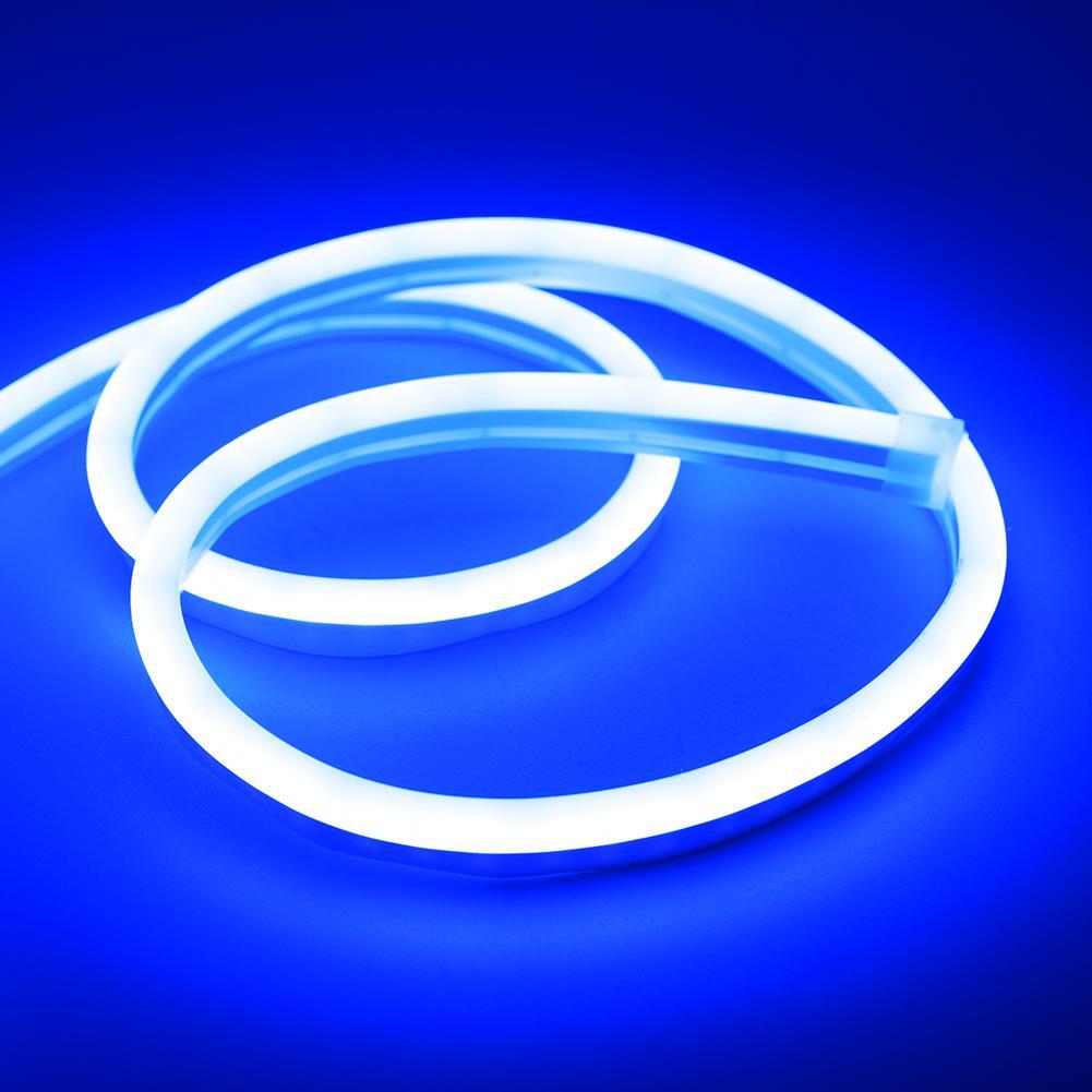 10X White 30cm 30SMD Thin Side Glow LED Car Decoration Neon Strip Flexible Light
