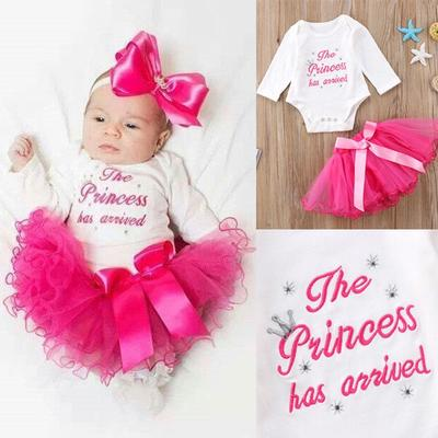 Newborn Baby Girl Tutu Outfits Clothes Romper Bodysuit Playsuit +Skirts