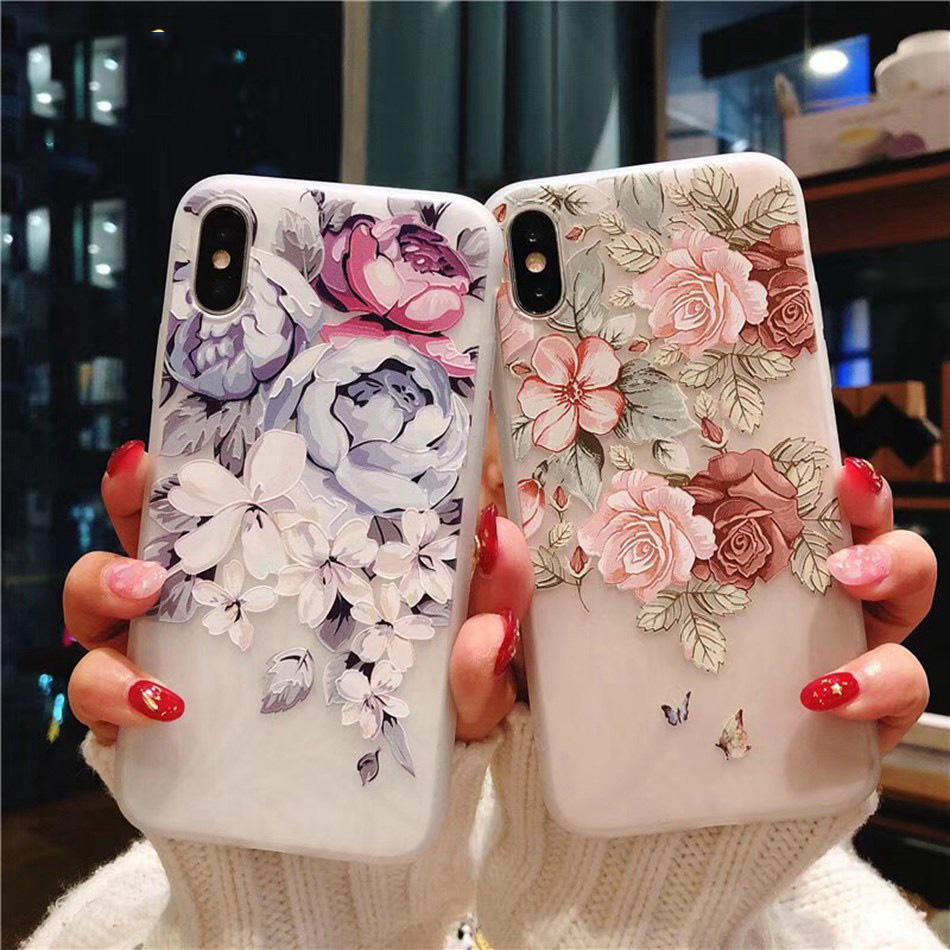 Цветущие цветы Мягкий ТПУ для IPhone Samsung Huawei Телефон Xiaomi Обложка фото