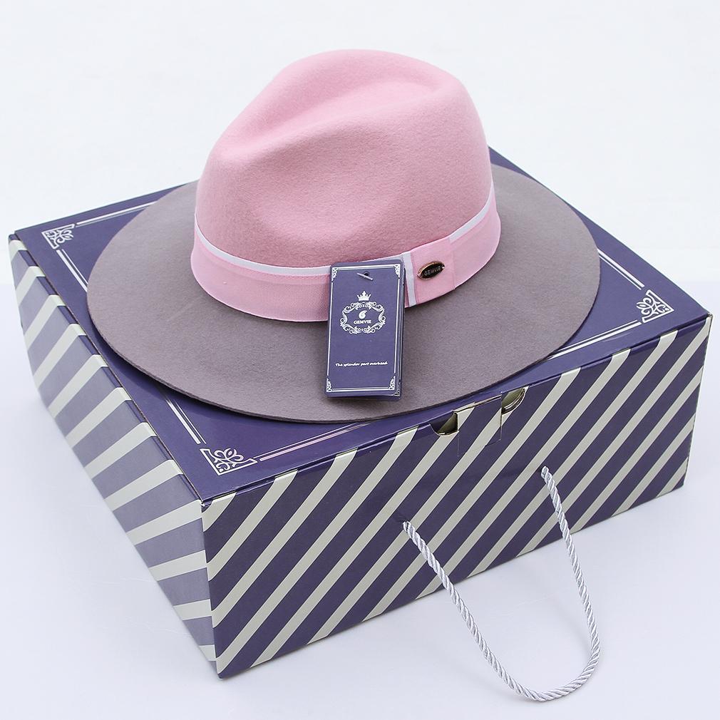 e254f2119f9ab Chapéus Brim largo Chapéu Panamá Trilby chapéu de feltro de lã de outono  Jazz Fedora chapéu homens mulheres