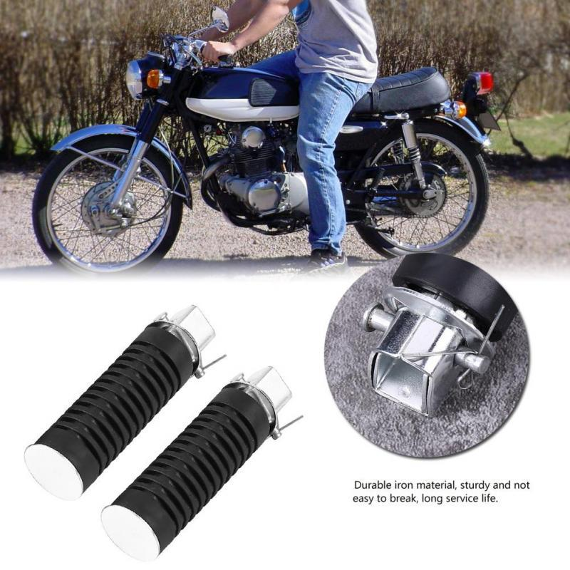 Motorcycle Motorbike Footrest Foot Peg Pedals for CB125S CB100 CG125 Pair of