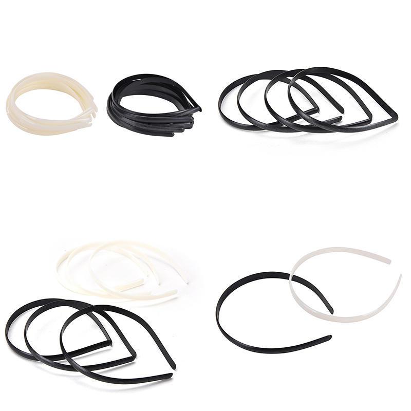 10x//Set Plastic Hair Band No Teeth Children Hair Accessory DIY Craft 2 Colors*