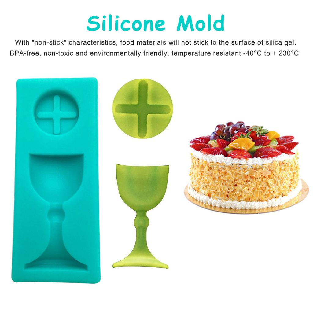 silicone mold resin clay mini round heart container mold decor for chocolate cake baking tools