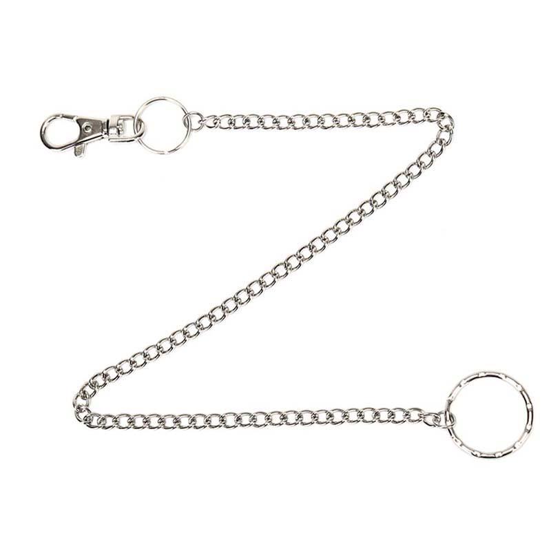 Mens Silver Metal Biker Rock Punk Wallet Chain Jeans Link Waist KeyChain Super
