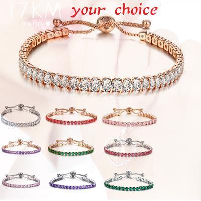 Fashion Cubic Zirconia Tennis Bracelet & Bangle Adjustable Pulseras Mujer Charm Bracelet Women Gifts