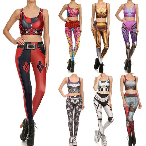 Suicide Squad Harley Quinn Sexy Cosplay Costume Super Heros Women Crop Top Skinny Pants Buy At A Low Prices On Joom E Commerce Platform