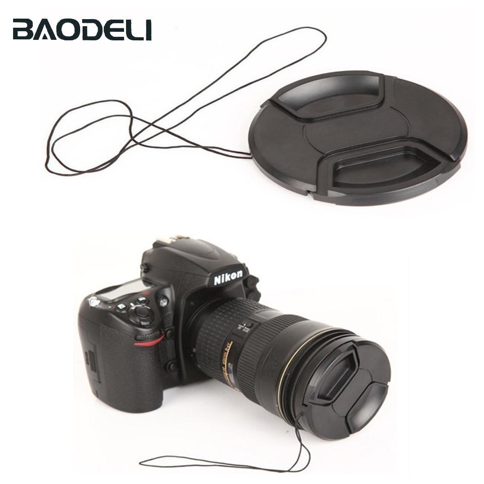 BAODELI Камера Универсальный объектив Cap 37 40,5 43 46 49 52 55 58 62 67 72 77 82 Мм для Canon Sony Nikon