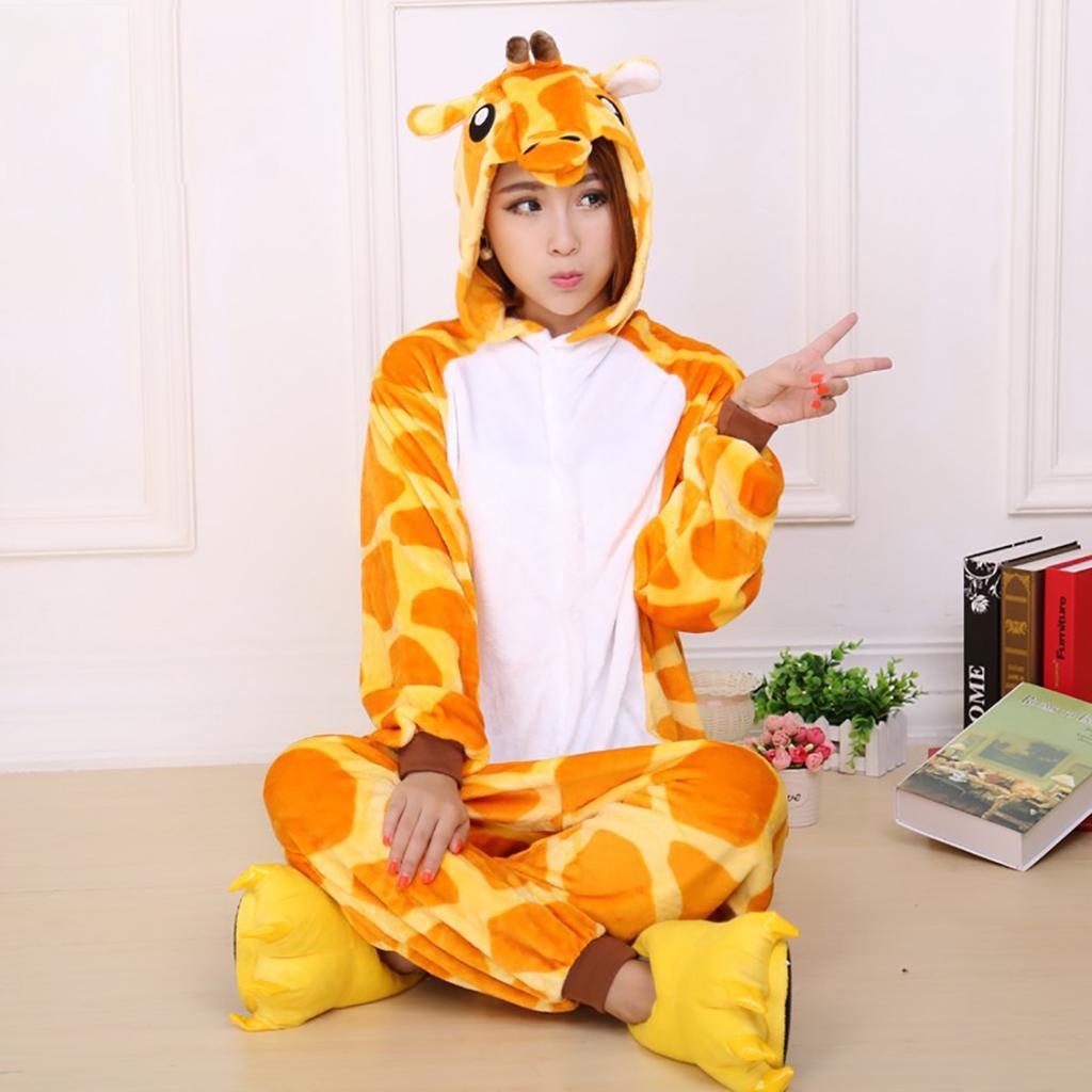 Унисекс Жираф взрослых пижамы Kigurumi косплей костюм животных Onesie пижамы  – купить по низким ценам в интернет-магазине Joom 79ef8694410c0