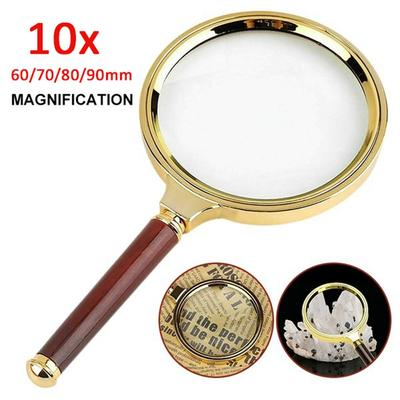 Inspection Mini Magnifying Glass 20X Folding Pocket Magnifier with Metal Protective Case Foldable Reading Magnifying Glass Portable Pocket Magnifying Glass for Reading Jewelry Hobby Coins Travel